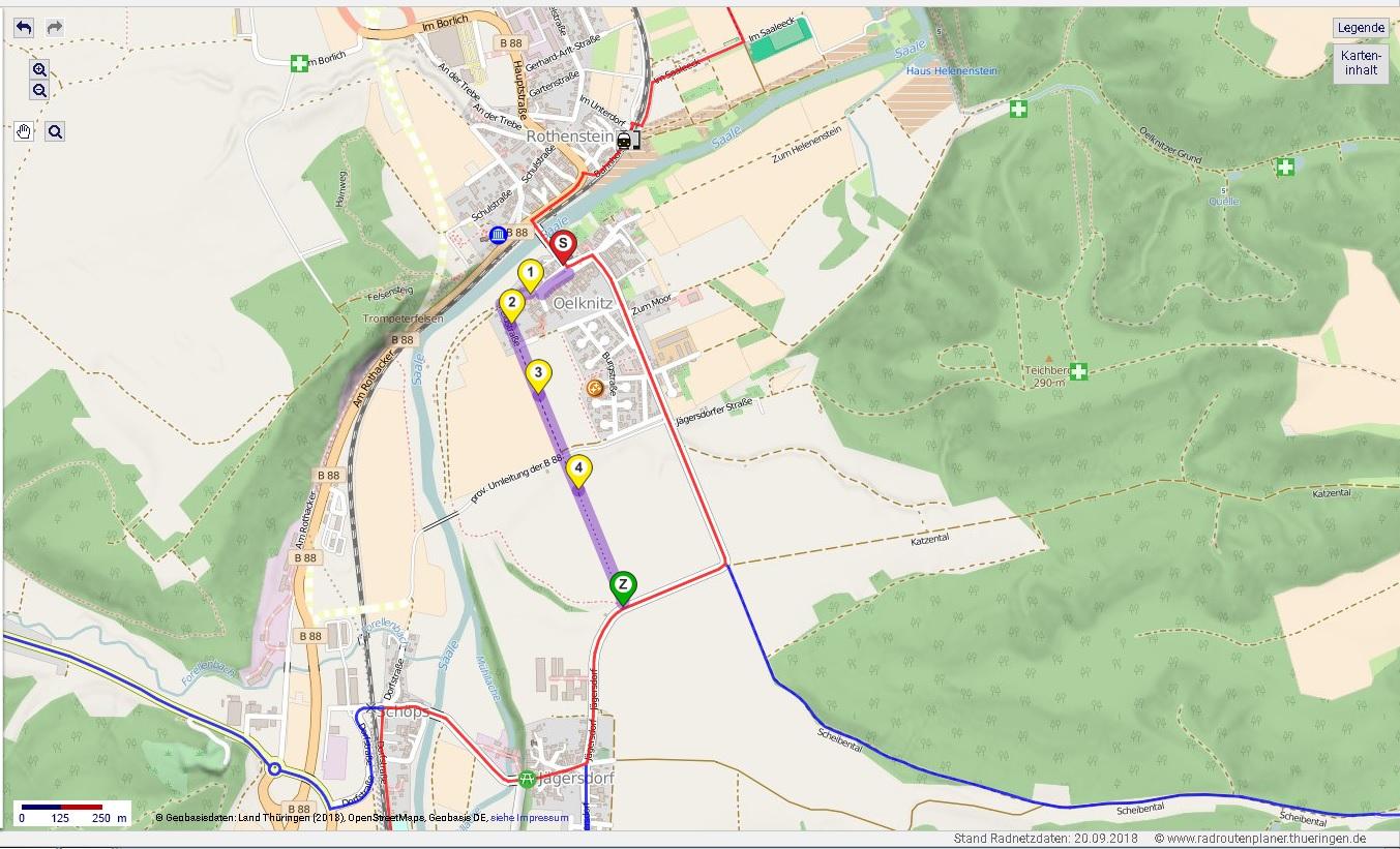 Saale Radweg Karte.Baustellen